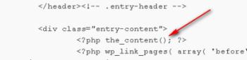 Строчка в коде одной записи