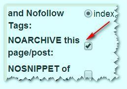 запретить индексацию архива