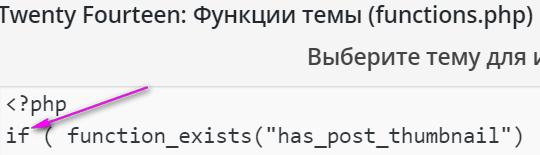 вставка кода в плагин functions