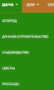 структура меню